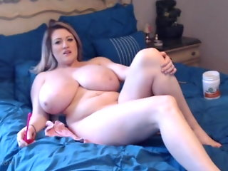 blonde, webcam, sex toy, milf, big tits, girl masturbating