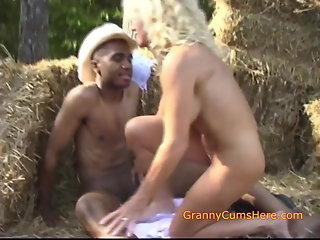 public nudity, blowjob, creampie, interracial, milf, granny
