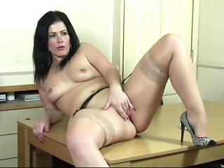 hardcore, sex toy, stockings, milf, cougar, dildo