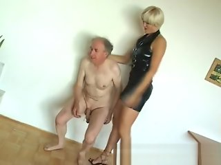 ballbusting, babe, big tits, blonde, fetish, straight