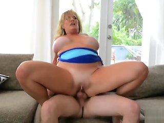 big ass, bbw, big tits, blond, blowjob, cunnilingus