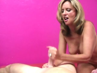blonde, big tits, cumshot, handjob, hd, mature