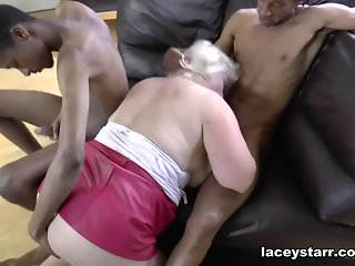 big tits, big ass, blonde, interracial, mature, stockings