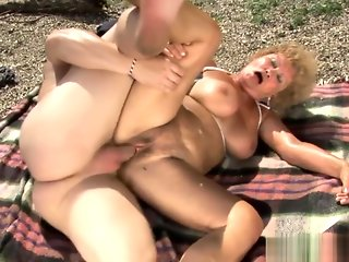big tits, big ass, granny, hardcore, mature, outdoor