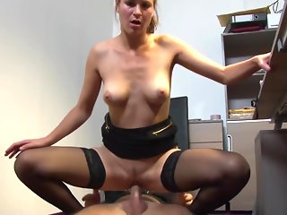 blowjob, big cock, brunette, doggystyle, european, german