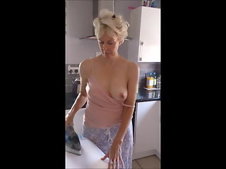 mature, blonde, public nudity, flashing, milf, big nipples