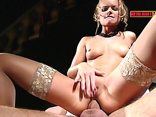 hardcore, anal, stockings, milf, double penetration, cum in mouth
