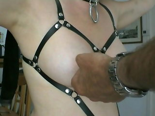blonde, amateur, bdsm, piercing, slave, european