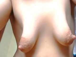 lactating, russian, saggy tits, girl masturbating, pussy,