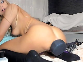anal, webcam, blonde, stockings, squirting, gaping