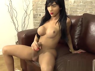 big cock, big ass, big tits, masturbation, shemale, solo shemale
